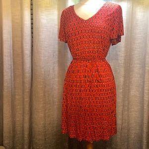 Loft red floral summer dress like new condition